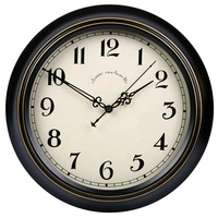14 Inch Classical Home Decorative Antique Black Round Hotel Room Wall Analog Clock Themes