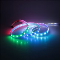 Beautiful look transparent led strip light silicone tube high brightness colorful waterproof DC5V rgb led pixel light