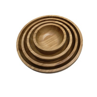 Good quality round Eco friendly Bamboo plate
