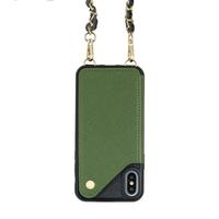 Ctunes Crossbody Cell Phone Case Chain Credit Card Holder Slot Purse Strap with Adjustice Necklace Strap for Apple Iphone X Xs