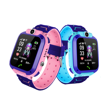 child gps watch 2019 newest model Q12 GPS kids Smart Watch SOS For iOS Android Smartphone IP67 depth waterproof multi-lingual