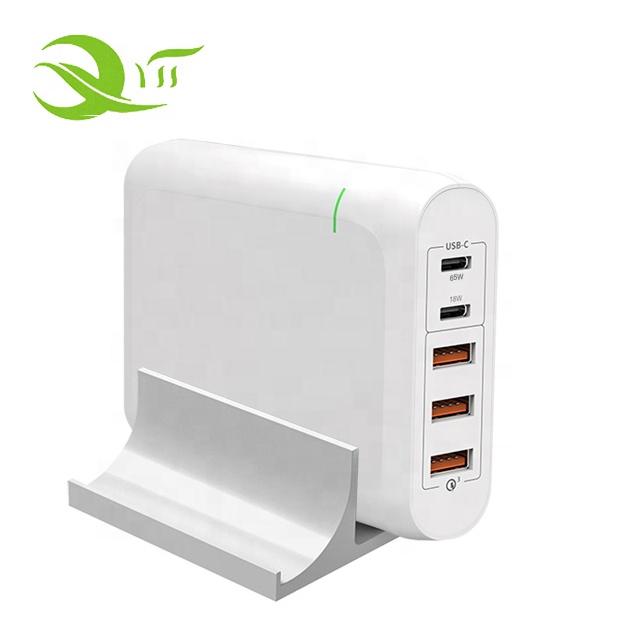 2019 Haute Sortie 100W 5 Ports USB C Chargeur Adaptateur secteur avec 18W et 60 W livraison Type C Chargeur Mural Blanc - ANKUX Tech Co., Ltd
