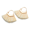 Custom Fashion Design Handmade Gold Alloy Polyester Tassel Earring For Women