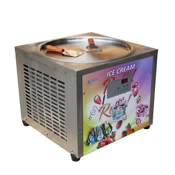 Free shipment CE RoHs NSF Approval Kolice Single Round Pan Table Top Mini counter topping taco rolled rolled ice cream machine