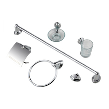 High Quality Hotel <strong>Decoration</strong> Economic Design 6 Piece <strong>Bathroom</strong> Set Accessories