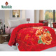 Nature life 100 polyester Middle east style big flower design luxury plush 5kg/6kg/7kg double layer mink blanket