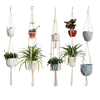 Macrame Plant Hanger Indoor Outdoor Hanging Planter Basket Cotton Rope,Plant Hanger Macrame