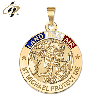 Promotional custom high quality St Michael protect me amulet pendants