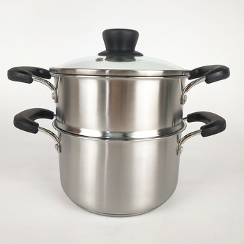 304 Food Grade Soup Cooking Pots 1,2,3 Layer Stainless Steel  Steamer Pot