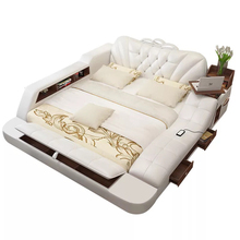 New Arrival Bed Frame Modern Soft Beds With Storage Home Bedroom Furnit V&P-c9006a#