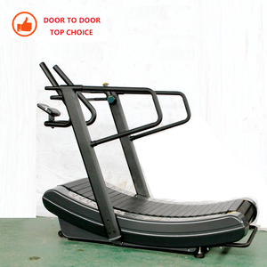 Door to Door Shipment Commercial Gym Fitness Equipment Manual Curved Treadmill Curve Treadmill