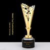 Factory Direct Sales Beautiful Design Star Gold Olive Branch Metals Trophy For Business Supply Gifts Crafts MOQ 1pc