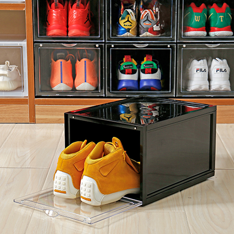 Wholesale best selling high quality stackable shoe storage box <strong>plastic</strong>