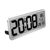 New product electronic 14'' large LCD calendar display digital wall mounted alarm clock