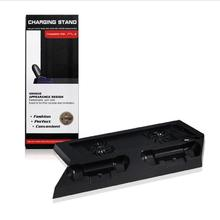 Super Slim Vertical Console Stand with Dual Port Charging Charger and HUB Holder Station for <strong>Playstation</strong> PS4 Controller