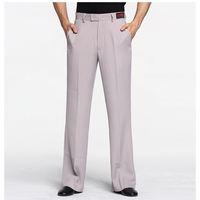 Men's Dance Pants Men Ballroom Latin Dance Standard Pants Adults Straight-legged Stripe Trousers Tango Pants For Men