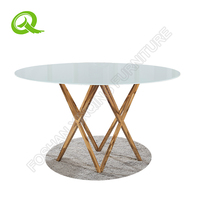 Hot selling round glass dining table and chairs