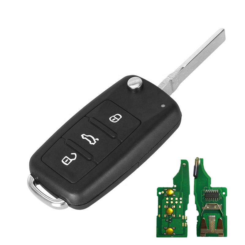 5K0 837 202 AD id48 chip 434MHz 3 button remote <strong>key</strong> for VW Passat Caddy Eos Golf Jetta Polo Tiguan Touran