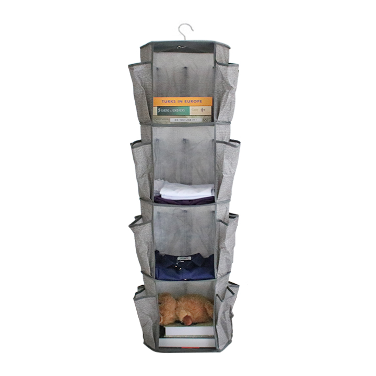 360-degree hook rotation 24 pockets shoe hanging storage bag organizer over door or wall