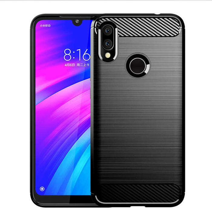 HUYSHE Fast Shipping for Xiaomi Redmi <strong>Y3</strong> Back Cover Cases Carbon Fiber tpu Mobile Phone Case for Redmi <strong>Y3</strong> cover