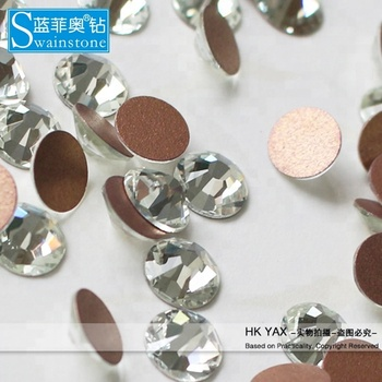 S0816 non hotfix rhinestone round clear crystal for nail, ss3 charming shiny crystal for nail, China factory crystal for nail