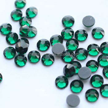 1224W Emerald SS10 SS16 SS20  DMC hot fix rhinestone,DMC strass for dressing,China manufacturer factory price DMC crystal