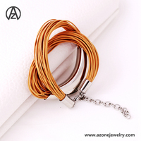 New Fashion Jewelry for Woman Personalize Leather Bracelet