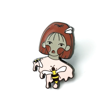custom wholesale glitter cute anime rainbow soft enamel pin