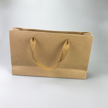 logo printed craft paper bag for food packing wholesale
