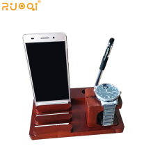 factory wholesale walnut wood usb dock charging station for mobile phone / tablet / pen / smart watch