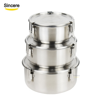 Set of 3 Pieces BPA Free Stainless Steel Bento Lunch Box Snack Container With airtight lids