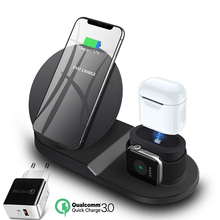 2019 New Design 3 in 1 charging dock Qi Fast Type-<strong>c</strong> Charging Wireless Charger for Samsung for iPhone