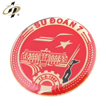 High quality metal enamel military souvenir lapel pin with epoxy dome