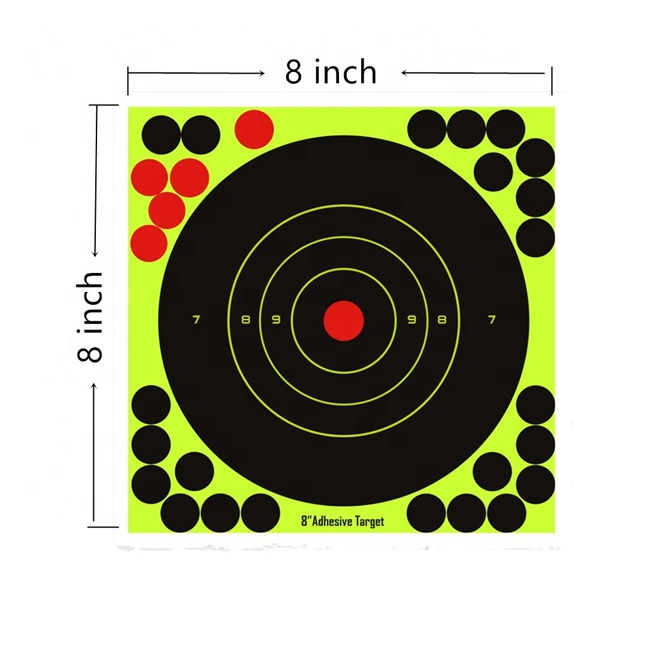 "10PK 8/"" Reactive Handgun Shooting Paper Target Pasters Splatter Self-Adhesive 20"