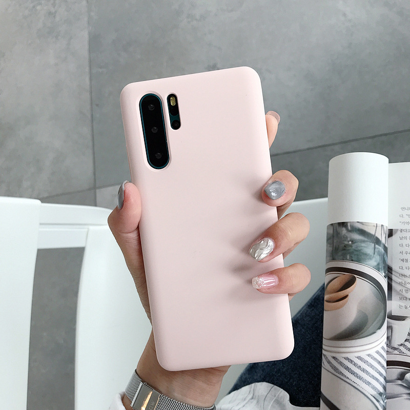 Fashion colorful luxury <strong>microfiber</strong> liquid silicone phone case for huawei p30 pro cellphone case
