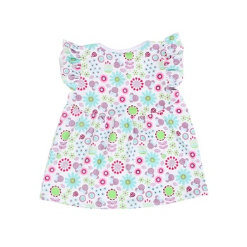 Boutique flutter sleeve kids children clothes baby tops