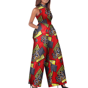 H & D African Printed Wax Fabric Jumpsuit Clothing Cotton Material Fashion Lady Clothes