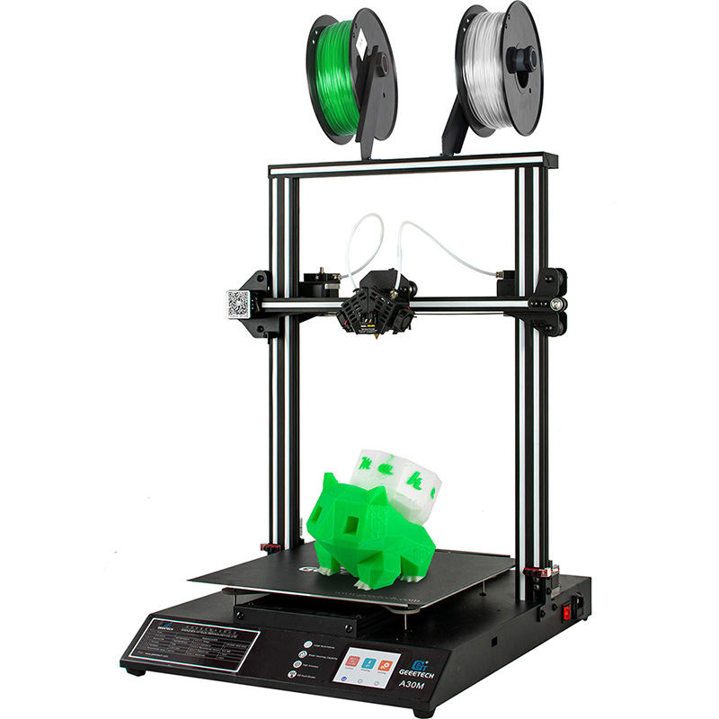 Geeetech 3D PrInter A10M Dual Extruder 2 in1 out  Mixing Color 1 Year Warranty
