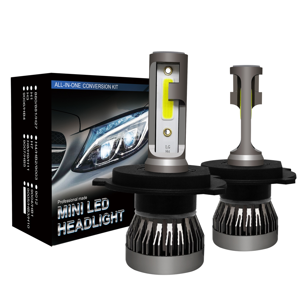 Ce Rosh Approved H4 Cob <strong>Led</strong> Headlight S1 Auto <strong>Led</strong> Bulb 36W 6000Lm Mini H4 <strong>Led</strong>