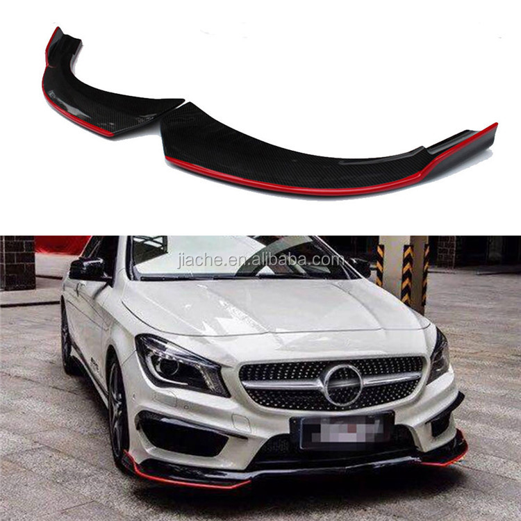 Front Lip Splitters Fender Aprons For Benz CLA Class <strong>W117</strong> C117 CLA250 CLA260 CLA45 2014-2016 Carbon Fiber Flap Cupwings