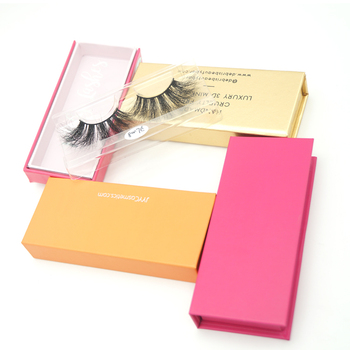 Hohe Qualität Wimpern Custom Packaging 3D Nerz Wimpern Angepasstes Logo Nerz Wimpern Private Label Box