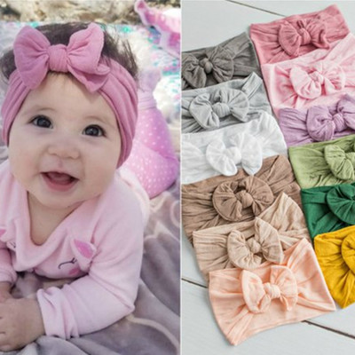 Wholesale Hot Sale Cheap Lovely Cotton Baby <strong>Hair</strong> <strong>Accessories</strong> Big Bow Headband