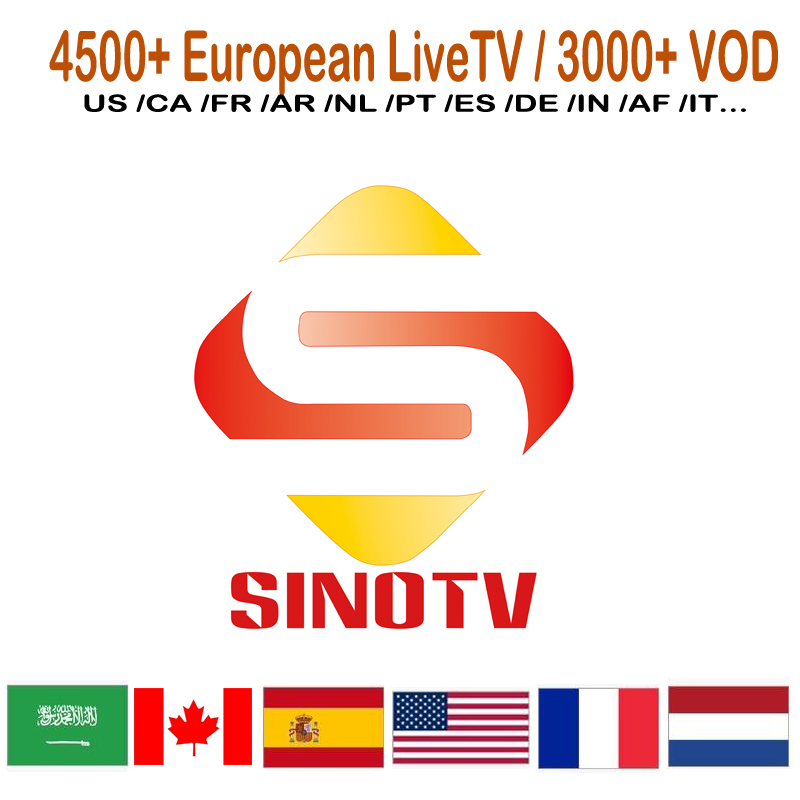 Android Operation <strong>System</strong> and 4K Support Resolution IPTV Box Europe French UK ScandinavianI IPTV Reseller Panel Sinotv IPTV