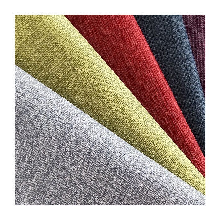 100 percent polyester faux linen upholstery waterproof <strong>fabric</strong> for furniture