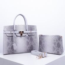 2019 Customize real python snake skin designer shoulder pu <strong>bags</strong> <strong>tote</strong> women handbag for oem odm SH498