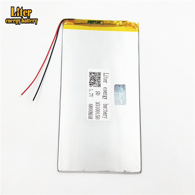 35100150 rechargeable 6000mah lithium polymer <strong>battery</strong> 3.7V single lipo cell