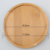 Custom wholesale round bamboo plant saucer tray for plant pot