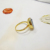 Crystals Ring Simple Trendy Circle Finger Jewelry For Wedding Engagement Yellow Gold Color For Women Gift