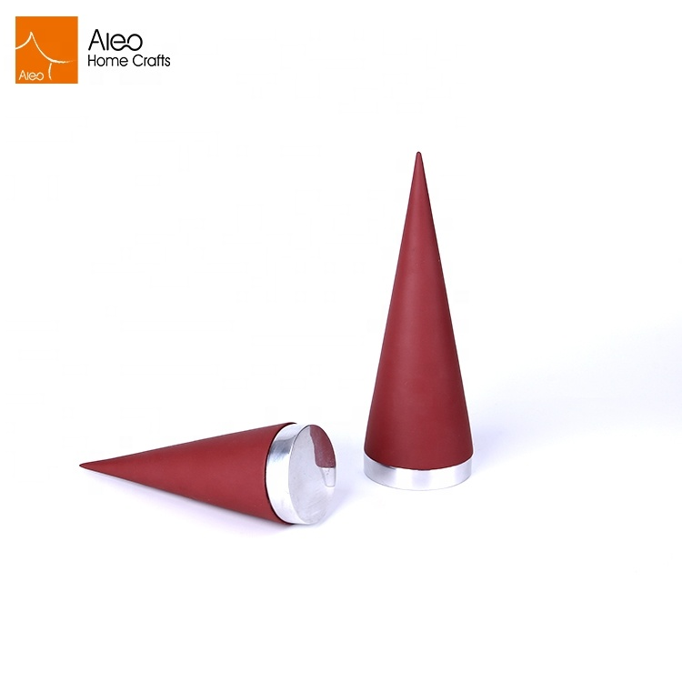 Retail shop showcase cone shape jewelry ring holder display