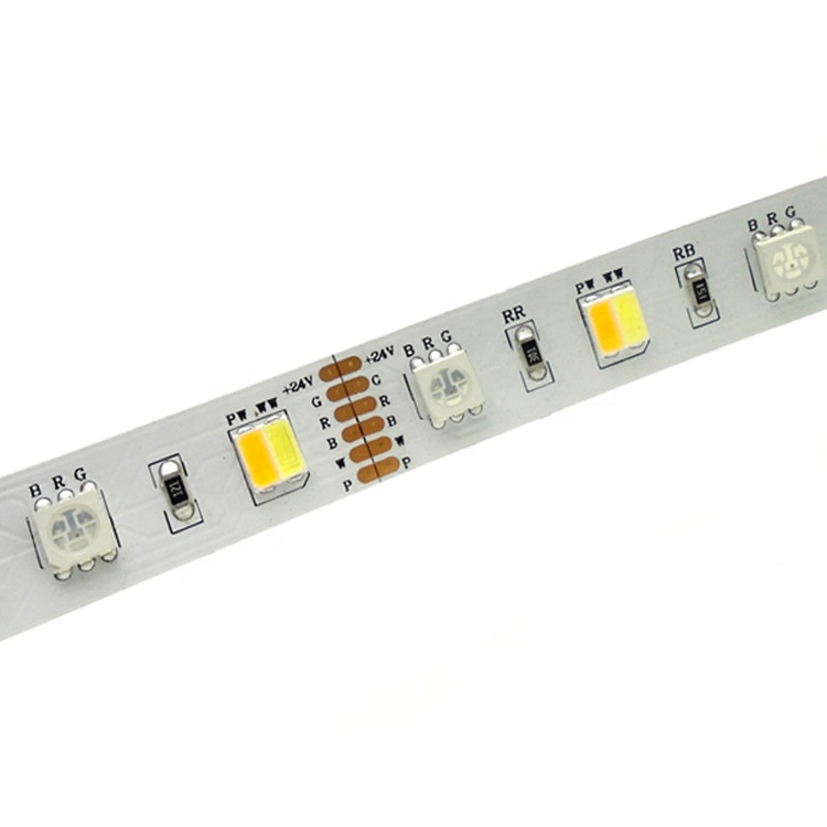NEW 5in1 <strong>RGB</strong>+Warm white+Pure White <strong>RGB</strong> cct led strip